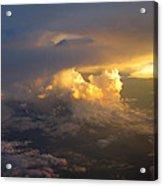 Golden Rays Acrylic Print by Ausra Huntington nee Paulauskaite