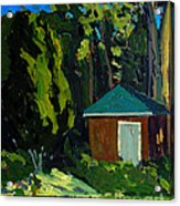 Golf Course Shed Series No.19 Acrylic Print by Charlie Spear