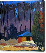 Golf Course Shed Series No.2 Acrylic Print by Charlie Spear