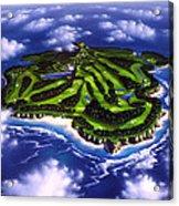 Golfer's Paradise Acrylic Print by Jerry LoFaro