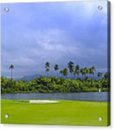 Golfer's Paradise Acrylic Print by Stephen Anderson
