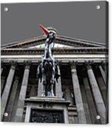 Goma Glasgow Pop Art Grey Acrylic Print by John Farnan
