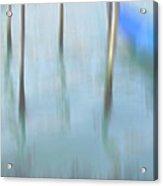 Gondola Poles Acrylic Print by Marion Galt