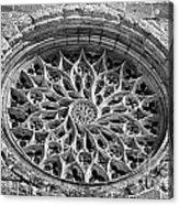 Gothic Rosette Acrylic Print by Jose Elias - Sofia Pereira