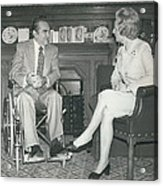Governor George Wallace Meets Mrs Margeret Thatcher At The Acrylic Print by Retro Images Archive