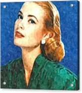 Grace Kelly Painting Acrylic Print by Gianfranco Weiss