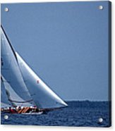 Grace Under Sail Acrylic Print by Skip Willits