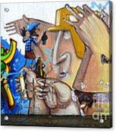 Graffiti Art Curitiba Brazil  19 Acrylic Print by Bob Christopher