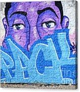 Graffiti Art Santa Catarina Island Brazil Acrylic Print by Bob Christopher