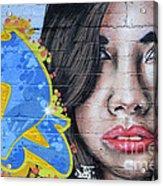 Grafitti Art Calama Chile Acrylic Print by Bob Christopher