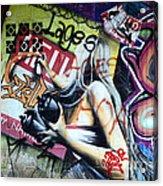 Grafitti Art Florianopolis Brazil 1 Acrylic Print by Bob Christopher