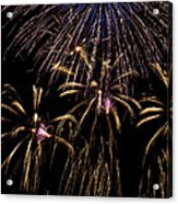 Grand Fireworks Acrylic Print by Chandru Murugan