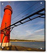 Grand Haven Lighthouse Acrylic Print by Adam Romanowicz