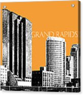 Grand Rapids Skyline - Orange Acrylic Print by DB Artist