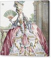 Grand Robe A La Francais, Engraved Acrylic Print by Claude Louis Desrais