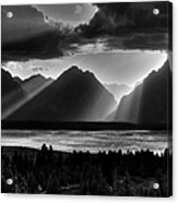 Grand Teton Light Beams Acrylic Print by Aidan Moran