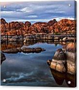 Granite Dells At Watson Lake Arizona 2 Acrylic Print by Dave Dilli
