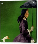Granny Gets A Goose... Acrylic Print by Will Bullas