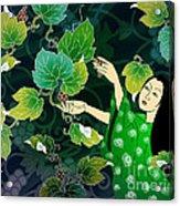 Grape Picking Acrylic Print by Bedros Awak