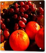 Grapes And Tangerines Acrylic Print by Greg Allore