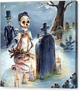 Grave Sight Acrylic Print by Heather Calderon