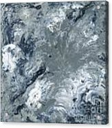 Gray Color Of Energy Acrylic Print by Ania Milo