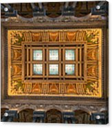 Great Hall Ceiling Library Of Congress Acrylic Print by Steve Gadomski