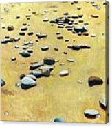 Great Lakes Triptych 2 Acrylic Print by Michelle Calkins
