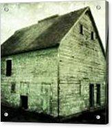 Green Barn Acrylic Print by Julie Hamilton
