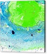 Green Blue Art - Making Waves - By Sharon Cummings Acrylic Print by Sharon Cummings