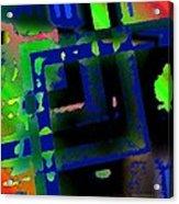 Green Geometric Spots Acrylic Print by Mario Perez