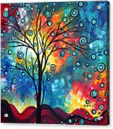 Greeting The Dawn By Madart Acrylic Print by Megan Duncanson