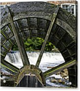 Grist Mill Wheel With Spillway Acrylic Print by Thomas Woolworth