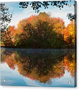 Grist Millpond Framed Acrylic Print by Michael Blanchette