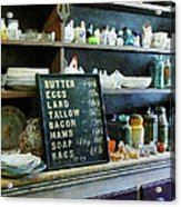 Groceries In General Store Acrylic Print by Susan Savad