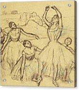 Group Of Dancers Acrylic Print by Edgar Degas