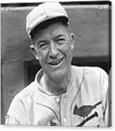 Grover Cleveland Alexander Leaning Smiling Acrylic Print by Retro Images Archive