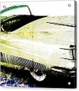 Grunge Retro Car Acrylic Print by David Ridley