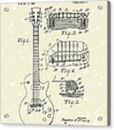 Guitar 1955 Patent Art Acrylic Print by Prior Art Design