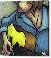 Guitar Man Acrylic Print by Kamil Swiatek