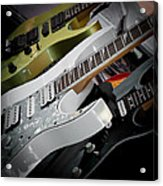 Guitars For Play Acrylic Print by David Patterson