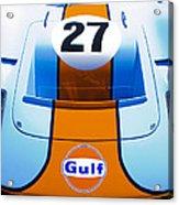 Gulf Ford Gt40 Acrylic Print by motography aka Phil Clark