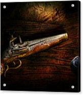 Gun - Pistol - Romance Of Pirateering Acrylic Print by Mike Savad