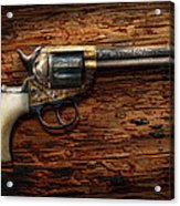 Gun - Police - True Grit Acrylic Print by Mike Savad