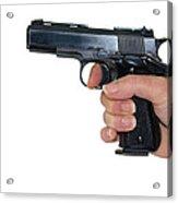 Gun Safety Acrylic Print by Charles Beeler
