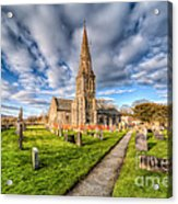 Gwyddelwern Church Acrylic Print by Adrian Evans