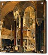 Haghia Sophia, Plate 8 The Imperial Acrylic Print by Gaspard Fossati