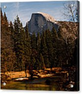 Half Dome Spring Acrylic Print by Bill Gallagher