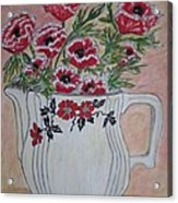 Hall China Red Poppy And Poppies Acrylic Print by Kathy Marrs Chandler