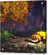 Halloween Pumpkins Acrylic Print by Marina Likholat